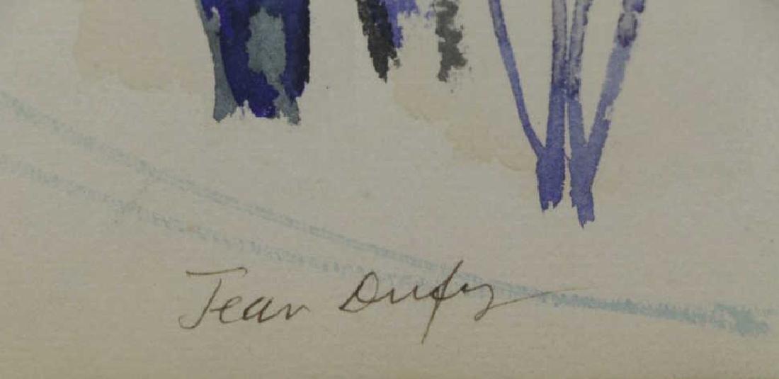"""DUFY, Jean. Watercolor on Paper. """"Au Bord de la - 6"""