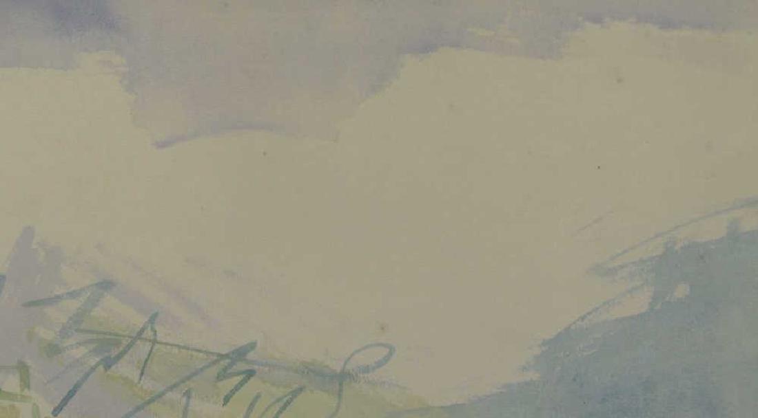 """DUFY, Jean. Watercolor on Paper. """"Au Bord de la - 7"""