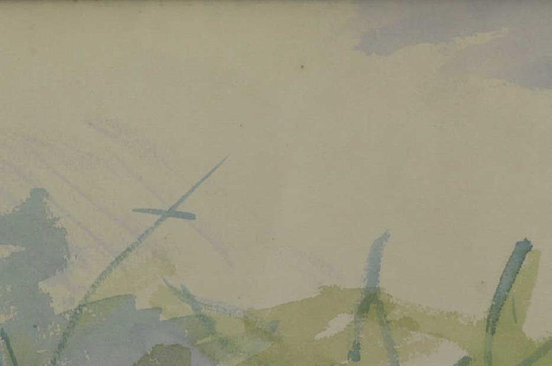 """DUFY, Jean. Watercolor on Paper. """"Au Bord de la - 8"""