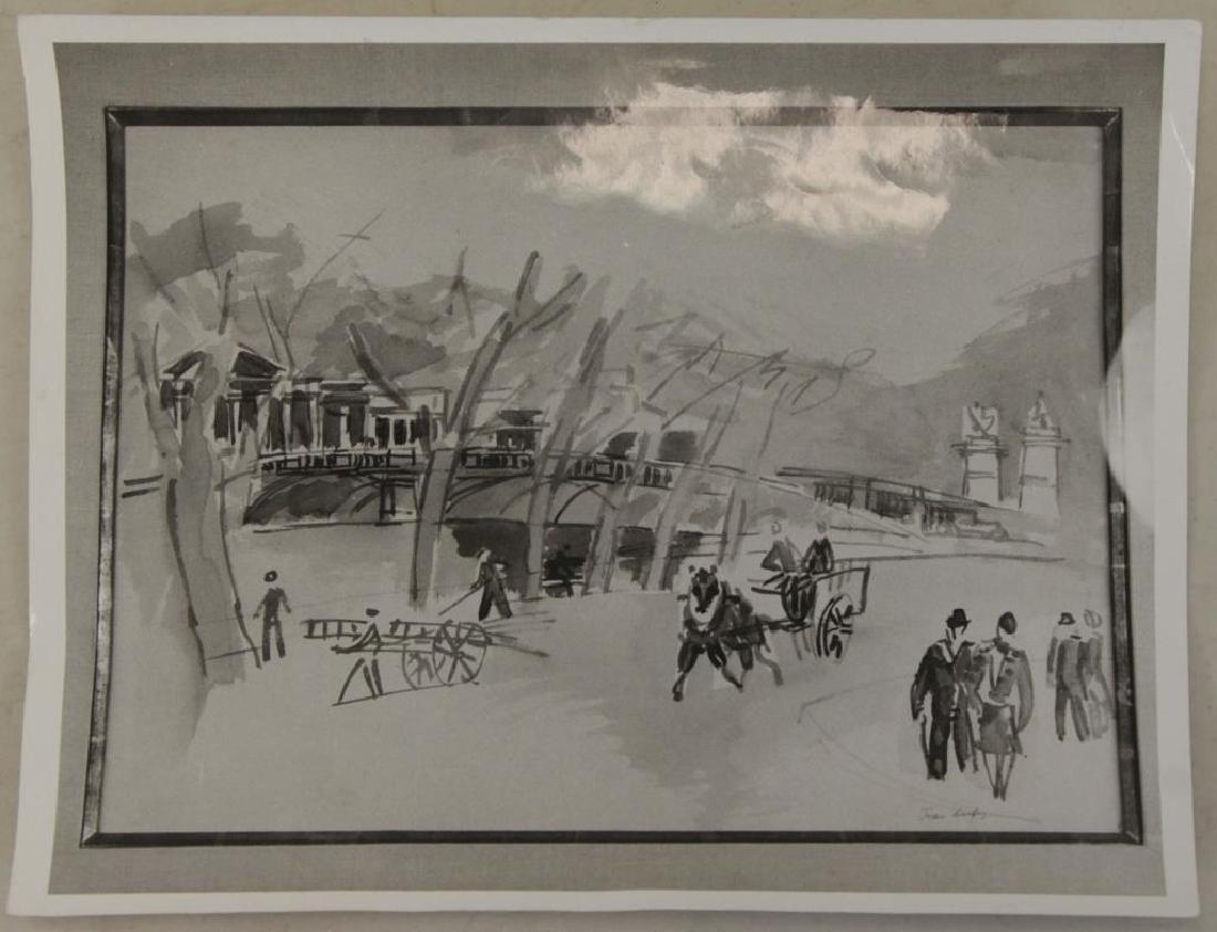 """DUFY, Jean. Watercolor on Paper. """"Au Bord de la - 9"""