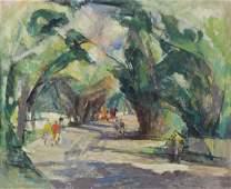 "MEYEROWITZ, William. Oil on Canvas ""Shady"