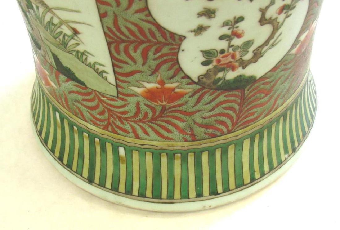 Famille Verte Baluster Vase. - 5