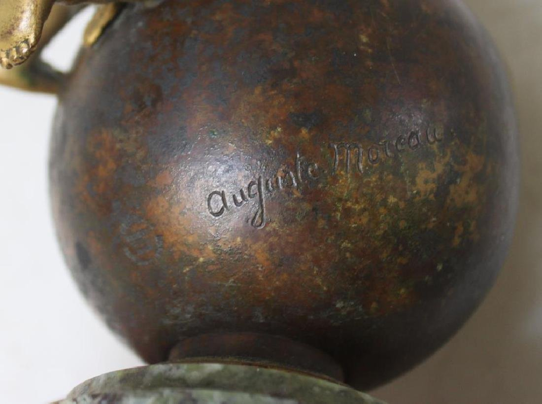 Antique Bronze & Glass Inkwell Signed EF Caldwell & Co, - 9