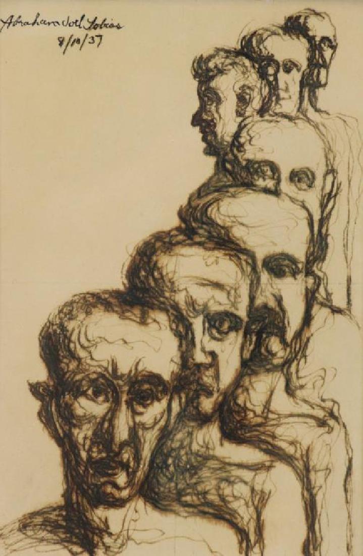 TOBIAS, Abraham. Ten (10) Ink on Paper Drawings of - 4