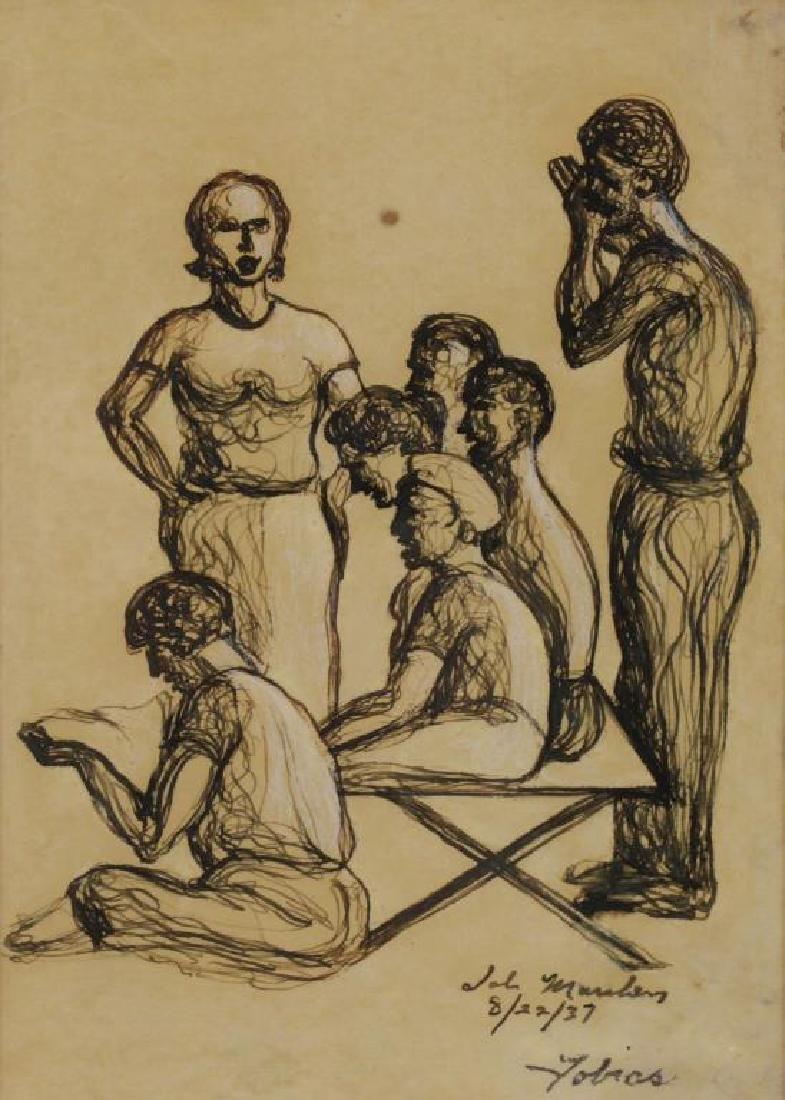 TOBIAS, Abraham. Ten (10) Ink on Paper Drawings of - 7