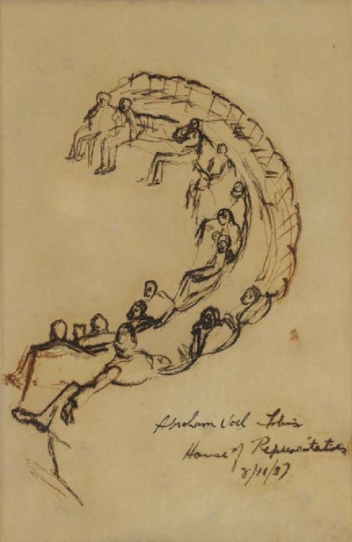 TOBIAS, Abraham. Ten (10) Ink on Paper Drawings of - 8
