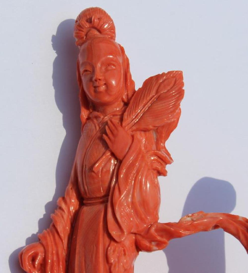 Carved Coral Figural Grouping of Woman and Child - 2