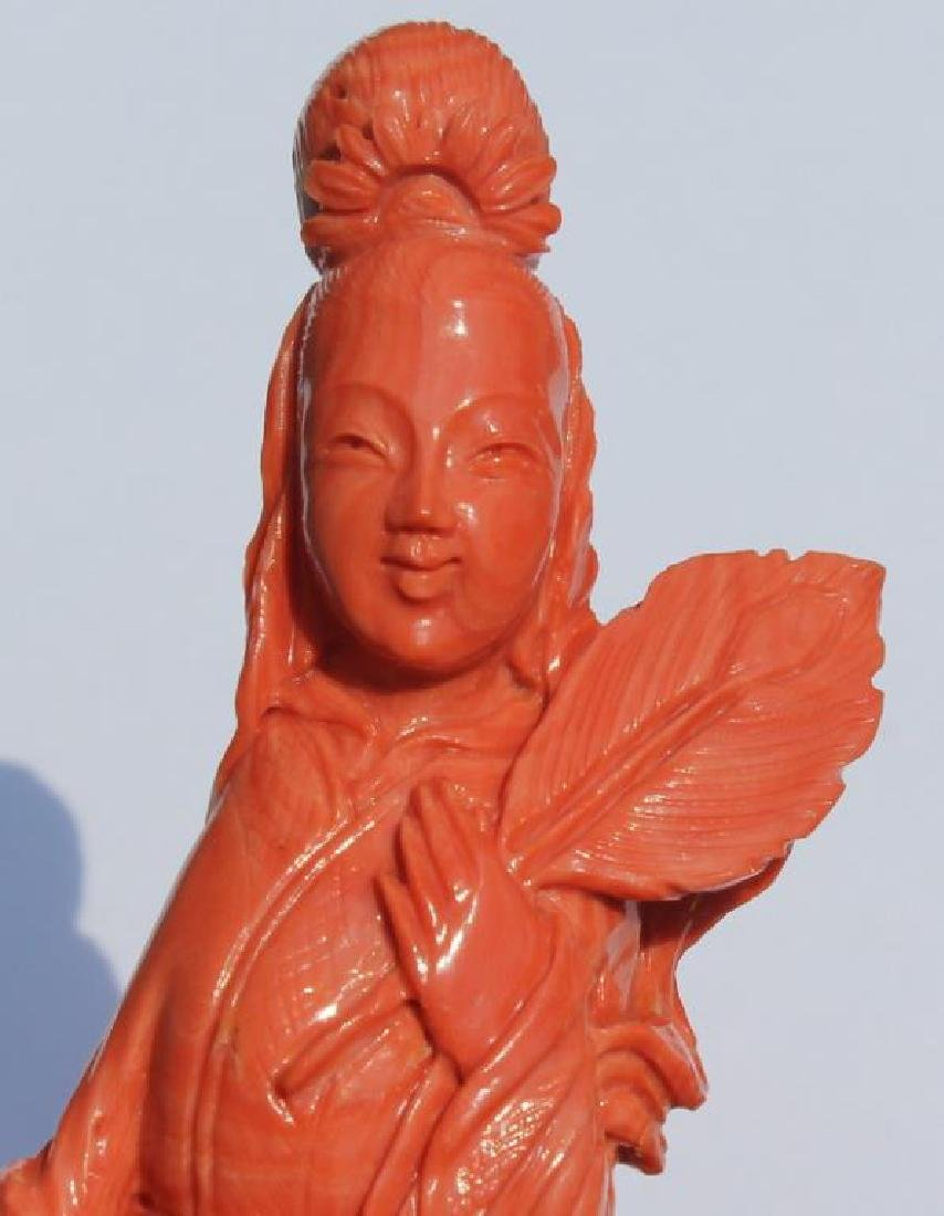 Carved Coral Figural Grouping of Woman and Child - 9