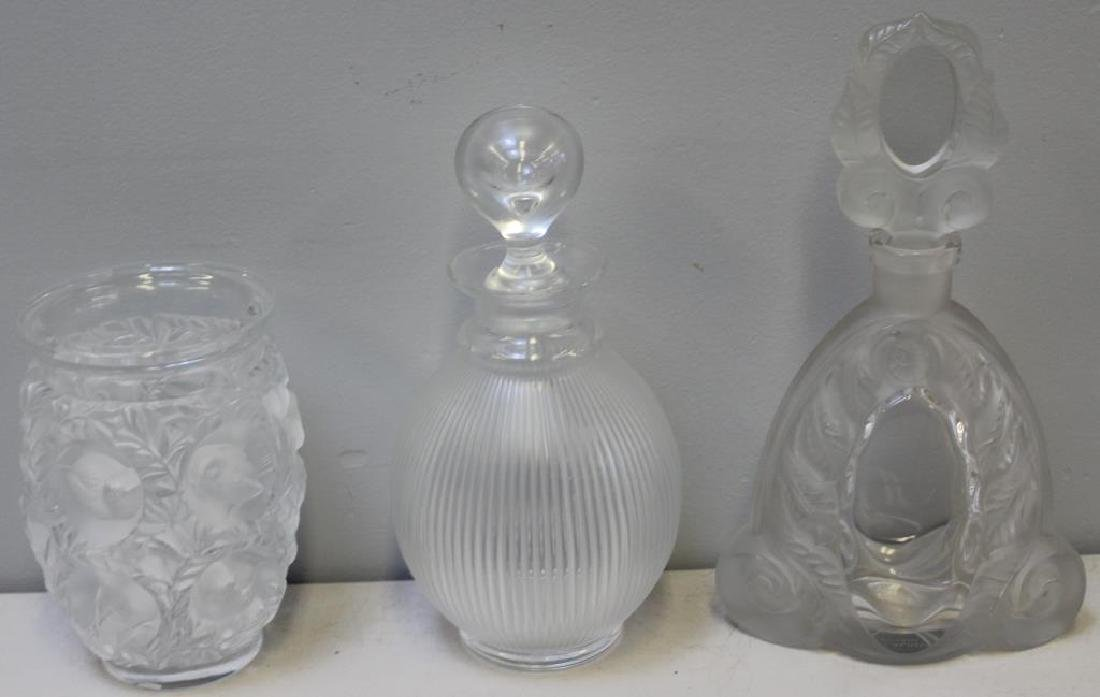 LALIQUE, Signed Lot Of 2 Decanters