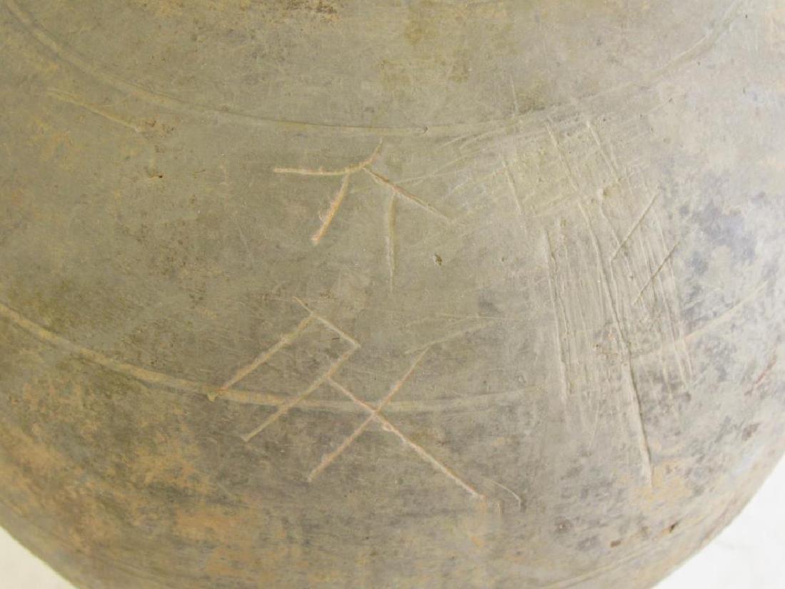 Two Black Han Style Funerary Jars. - 7