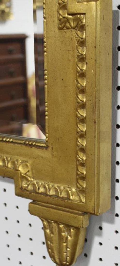 BAKER. Signed Carved Giltwood mirror - 4