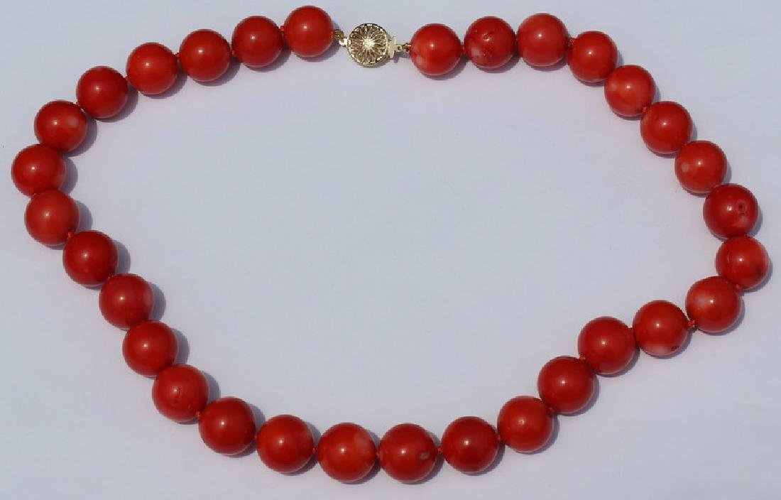 JEWELRY. Grouping of (3) Assorted Coral and 14kt - 5