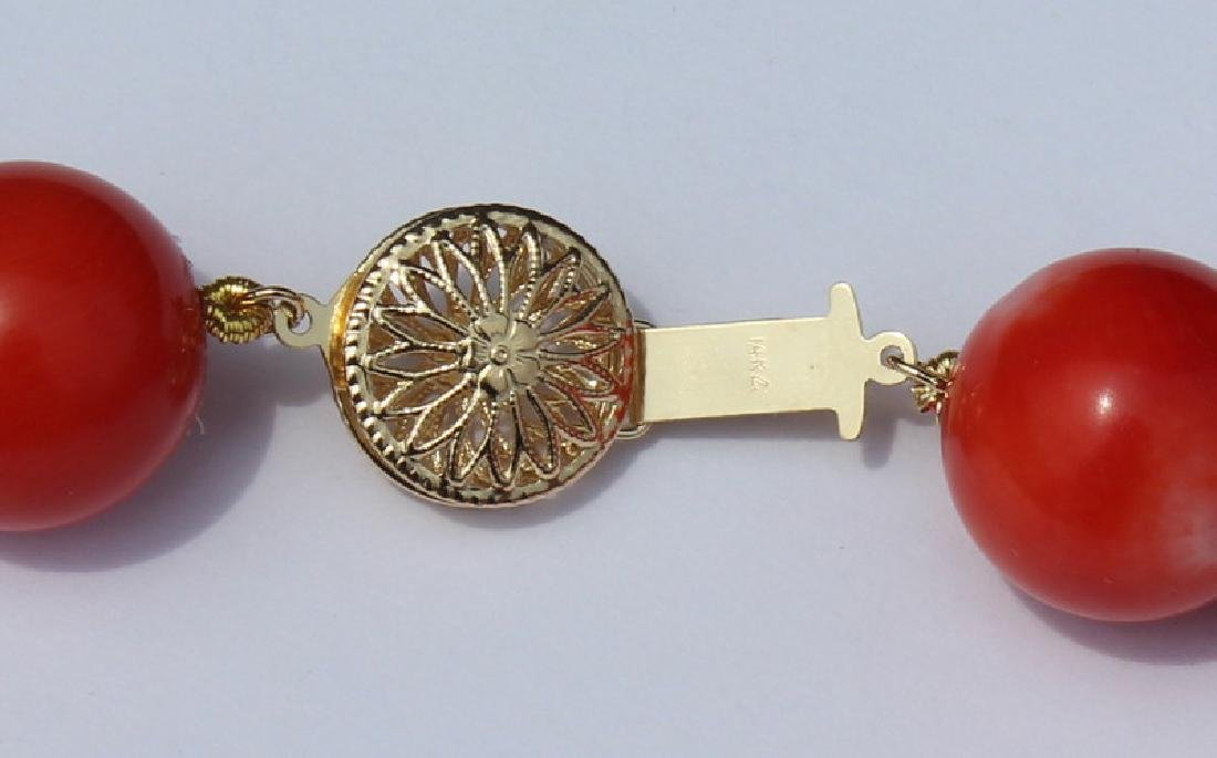 JEWELRY. Grouping of (3) Assorted Coral and 14kt - 7