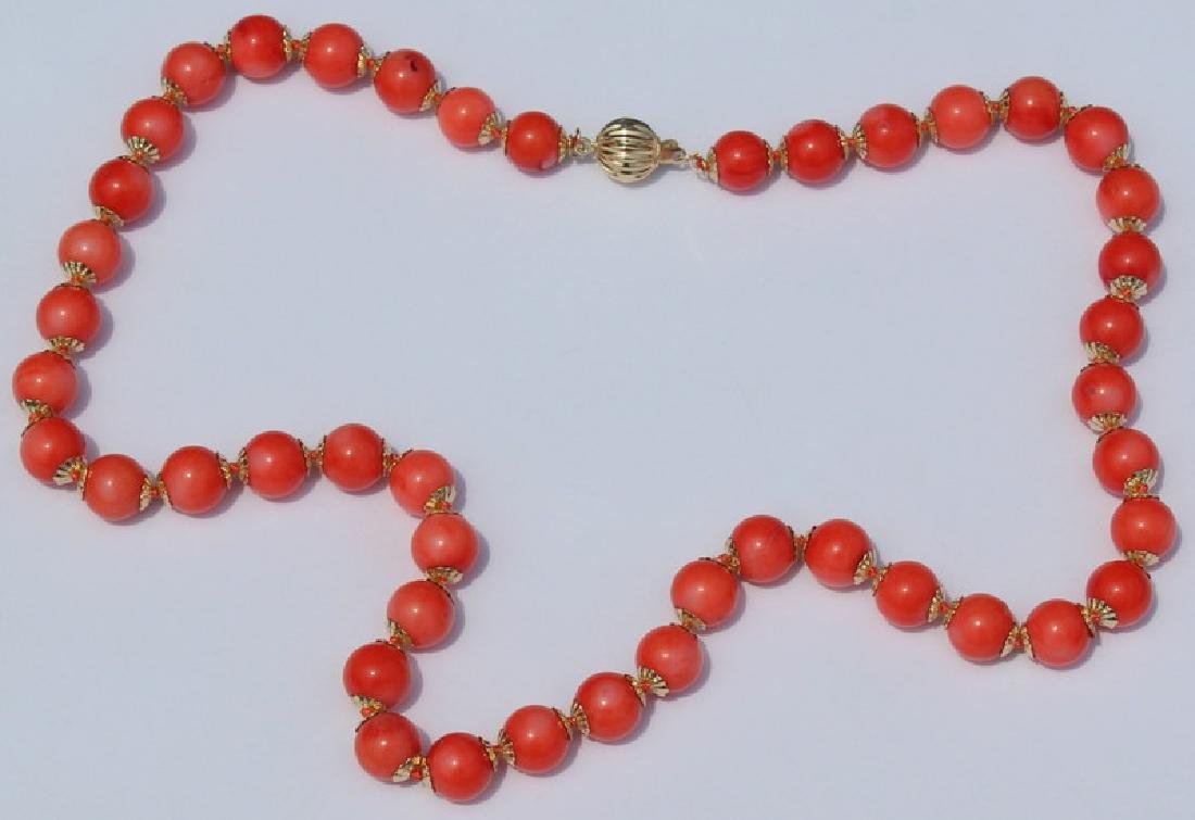JEWELRY. Grouping of (3) Assorted Coral and 14kt - 9