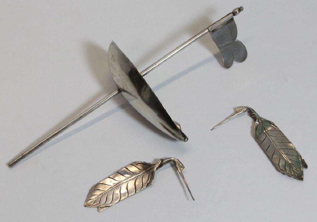 SILVER. German .812 Silver Menorah. - 9