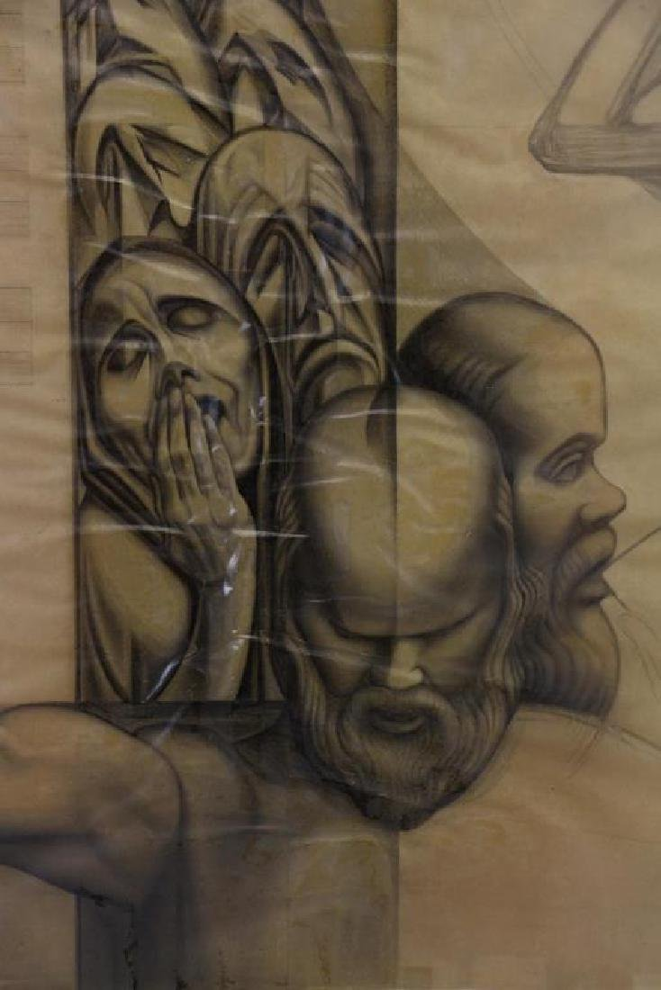TOBIAS, Abraham. Five (5) Charcoal Drawings. - 10