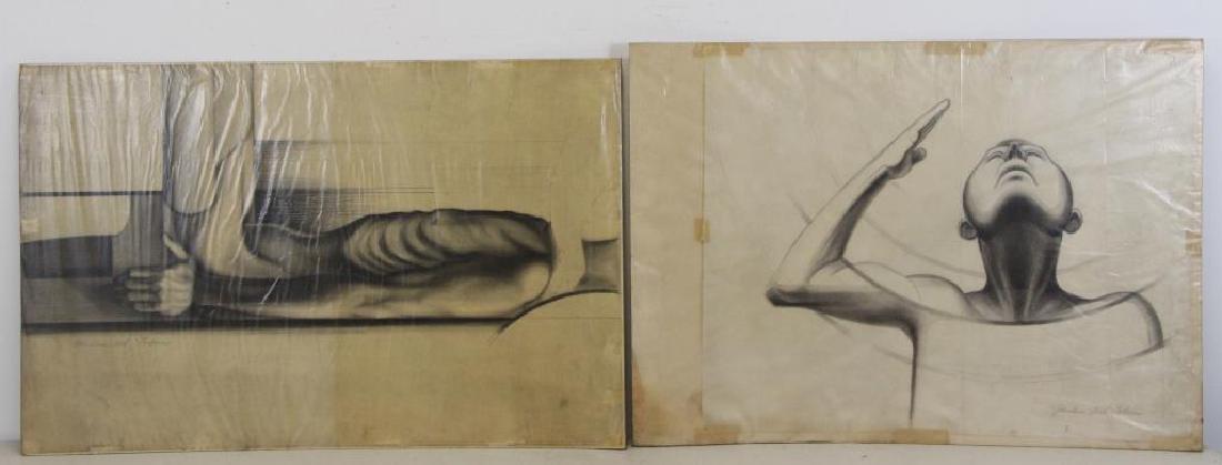 TOBIAS, Abraham. Five (5) Charcoal Drawings. - 2