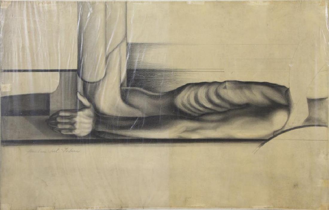 TOBIAS, Abraham. Five (5) Charcoal Drawings. - 3