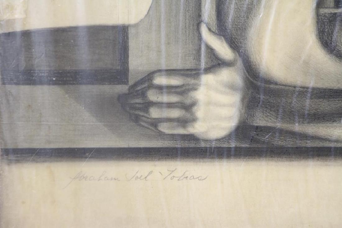 TOBIAS, Abraham. Five (5) Charcoal Drawings. - 4