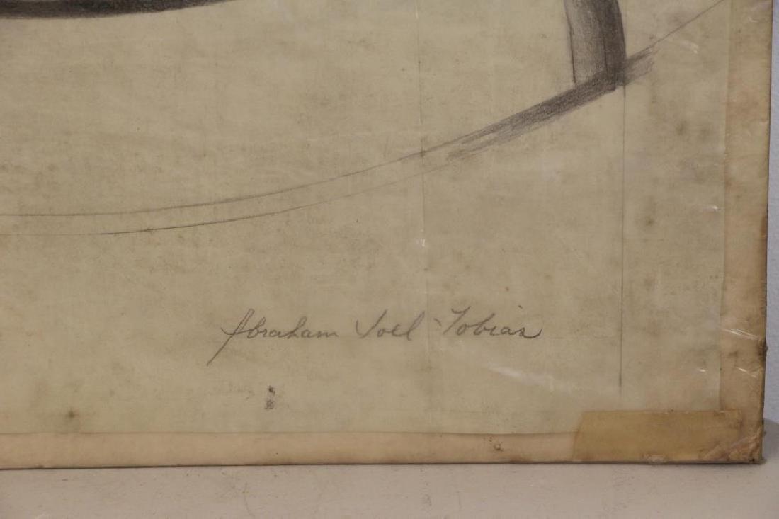 TOBIAS, Abraham. Five (5) Charcoal Drawings. - 7