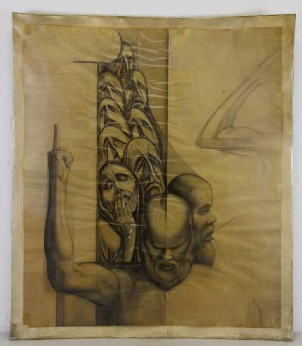 TOBIAS, Abraham. Five (5) Charcoal Drawings. - 8