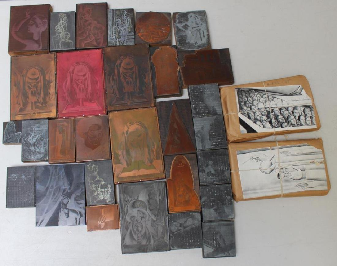 TOBIAS, Abraham. Lot of Assorted Engraving Plates.
