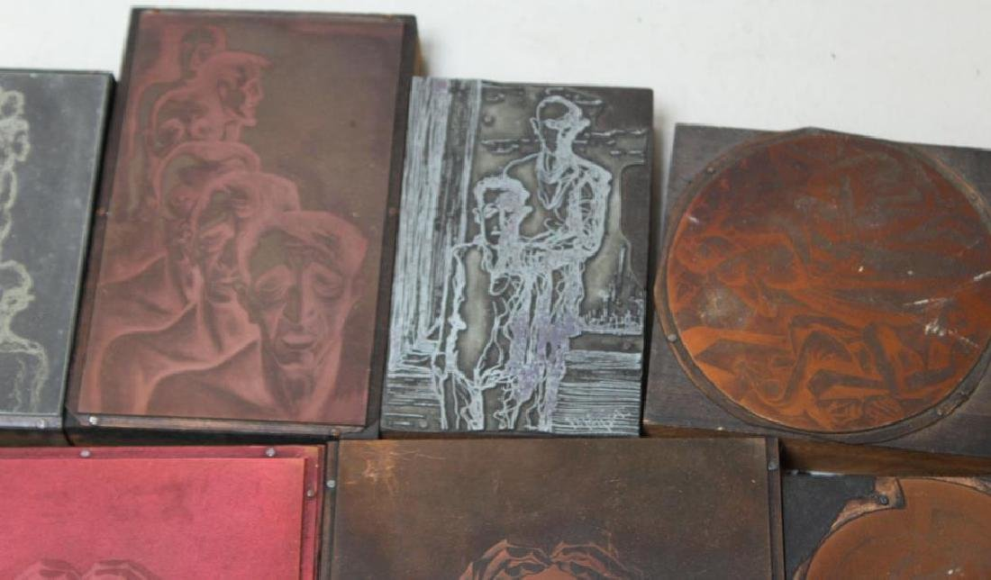 TOBIAS, Abraham. Lot of Assorted Engraving Plates. - 9