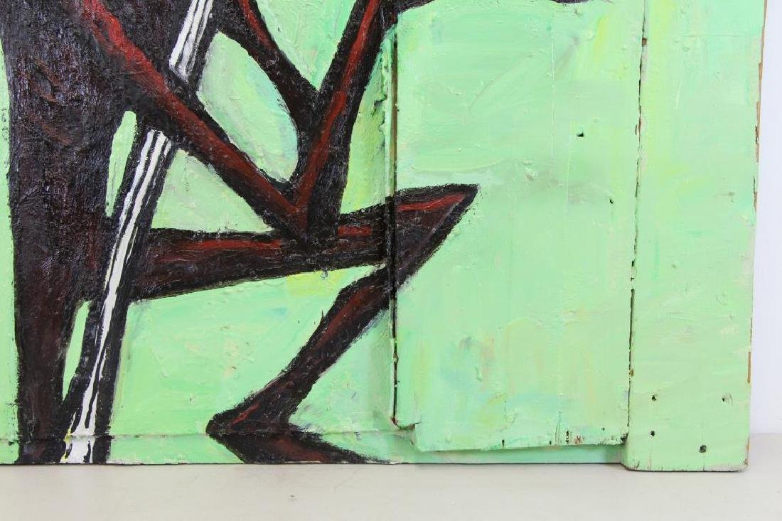 PROL, Rick. Oil on Wood. Untitled (No Parking) - 4