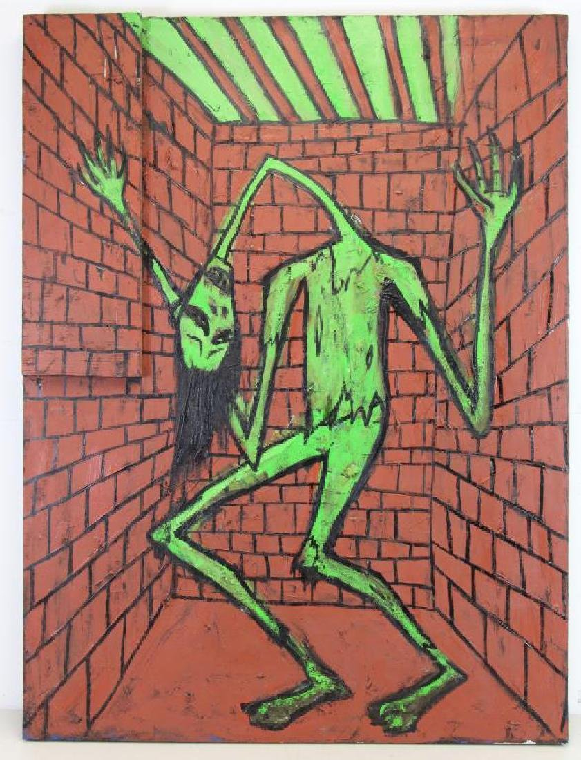 PROL, Rick. Oil on Canvas & Wood. Untitled. - 2
