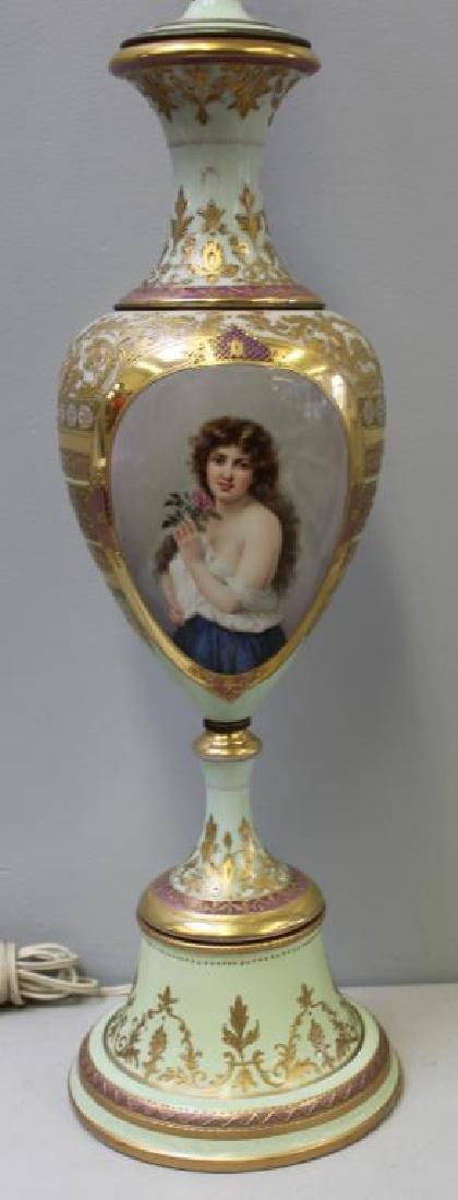 Vienna / Sevres Style Portrait Porcelain Urn As A