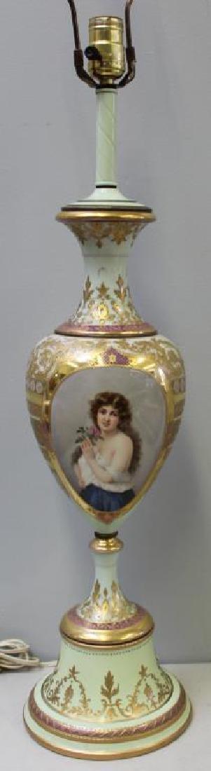 Vienna / Sevres Style Portrait Porcelain Urn As A - 2
