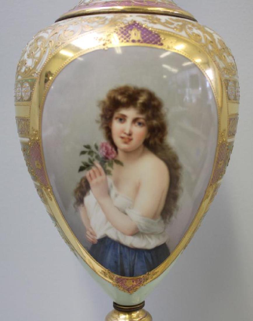 Vienna / Sevres Style Portrait Porcelain Urn As A - 3