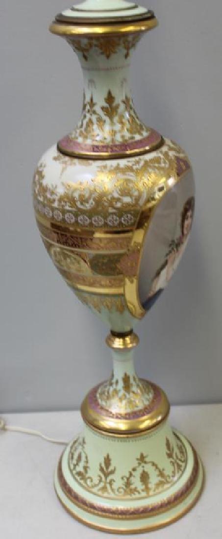 Vienna / Sevres Style Portrait Porcelain Urn As A - 4