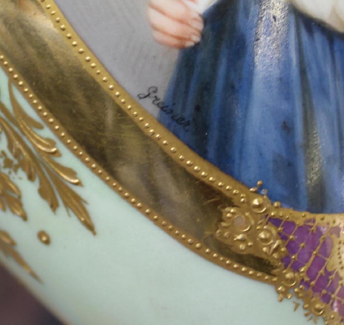 Vienna / Sevres Style Portrait Porcelain Urn As A - 6