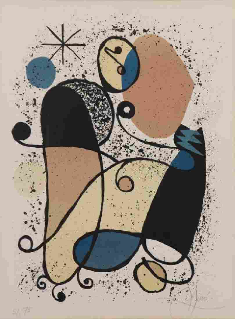 MIRO, Joan. Color Lithograph. Untitled.