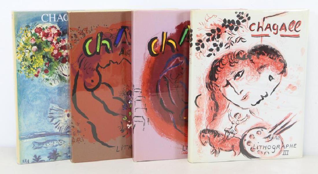 CHAGALL, Marc. Set of 4 Catalogue Raisonnes.