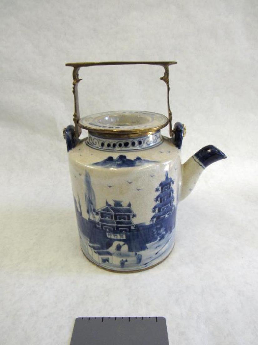 Chinese Metal Mounted Tea Pot. - 10