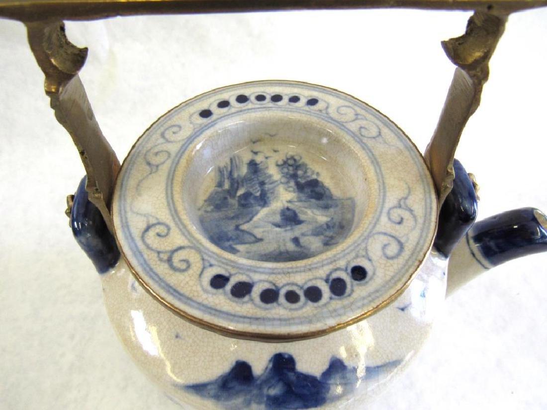 Chinese Metal Mounted Tea Pot. - 2