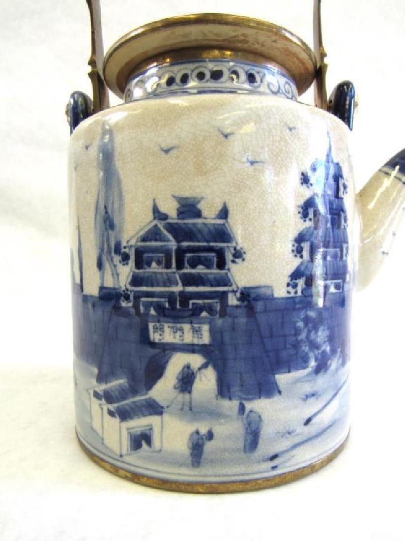 Chinese Metal Mounted Tea Pot. - 4