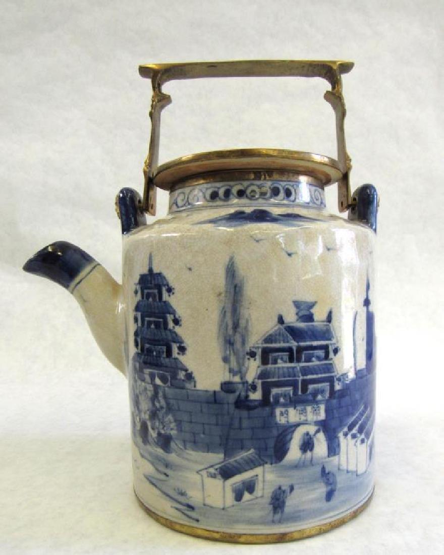 Chinese Metal Mounted Tea Pot. - 6