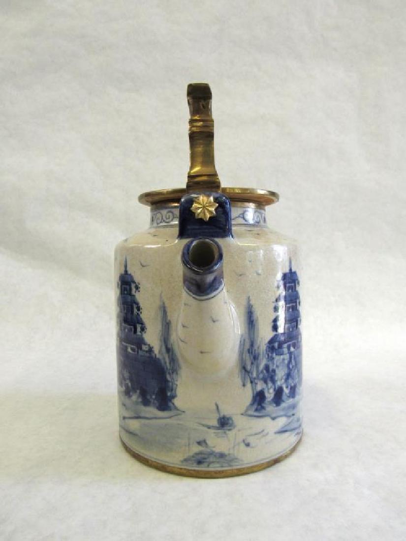 Chinese Metal Mounted Tea Pot. - 7