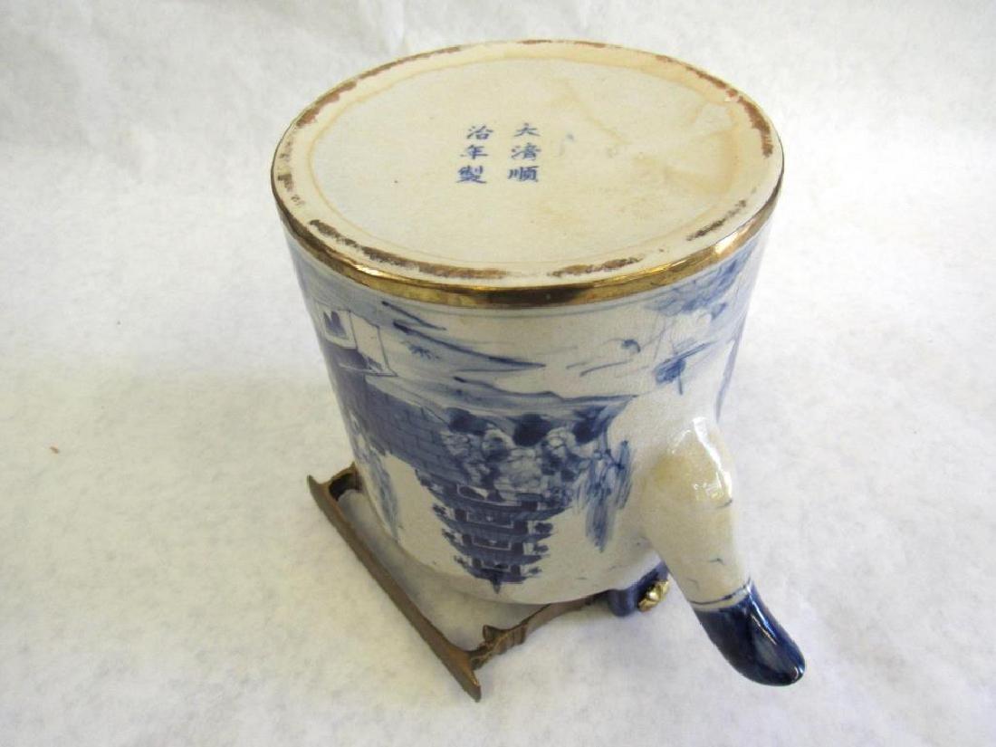 Chinese Metal Mounted Tea Pot. - 9