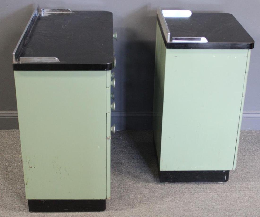 MIDCENTURY/ 2 Industrial Style Enameled Cabinets - 5