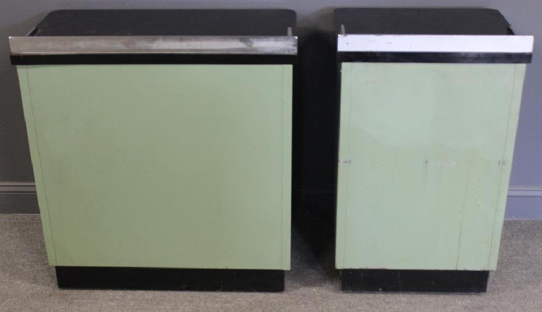 MIDCENTURY/ 2 Industrial Style Enameled Cabinets - 6