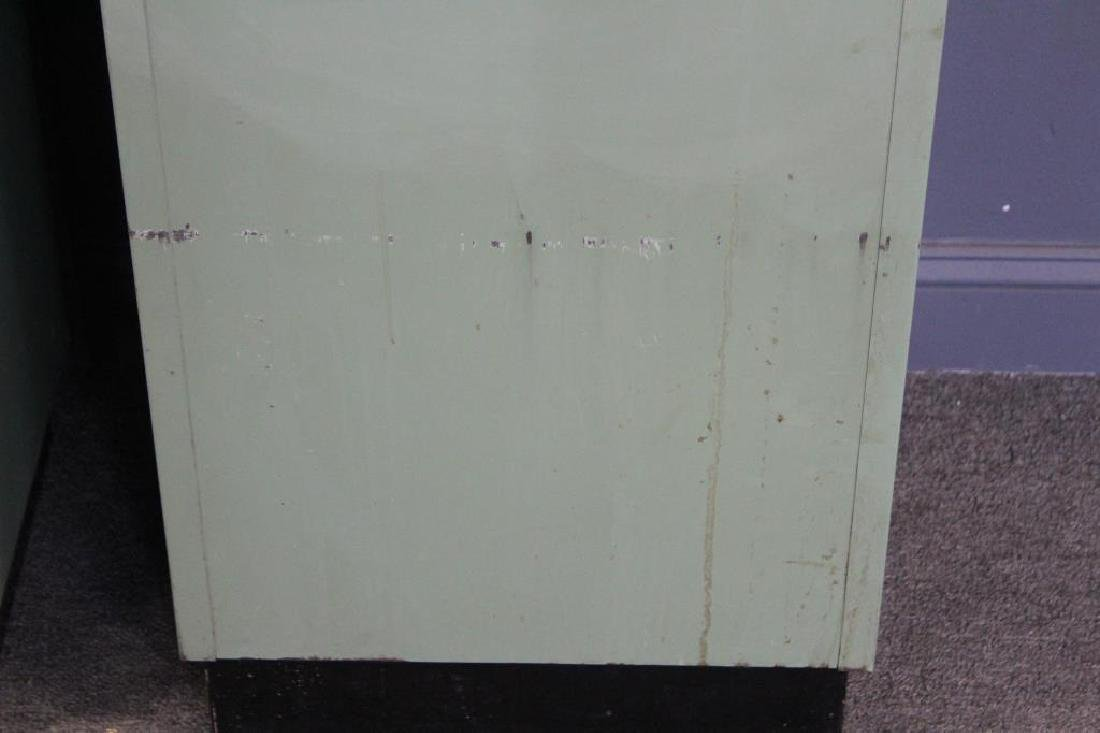 MIDCENTURY/ 2 Industrial Style Enameled Cabinets - 7