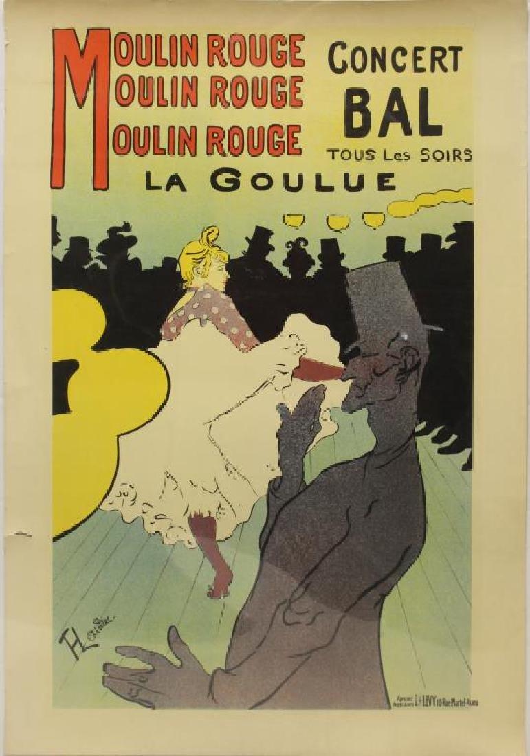 TOULOUSE- LAUTREC, Henri. Lithograph. After Moulon