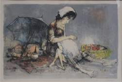 JANSEM Jean Lithograph in Colors Mother and