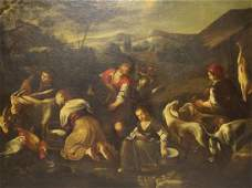 18th Century Old Master Oil on Canvas Figures