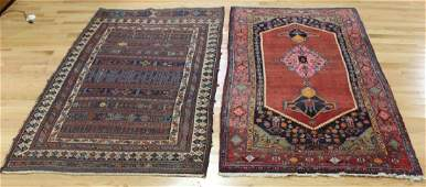 2 Antique and Finely Hand Woven Area Rugs.