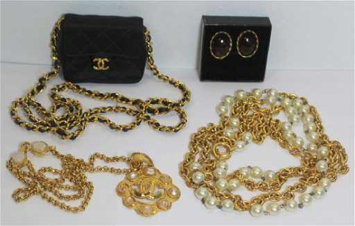 3b556eeee83278 JEWELRY. Grouping of Vintage Chanel Jewelry.